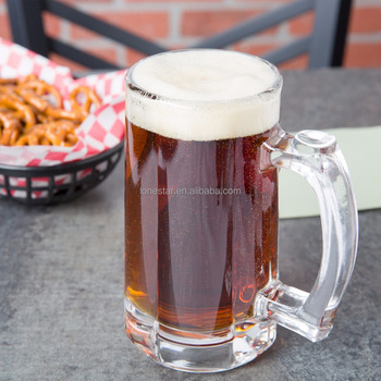Hot selling American style 12 oz. Dimple glass Beer Mug