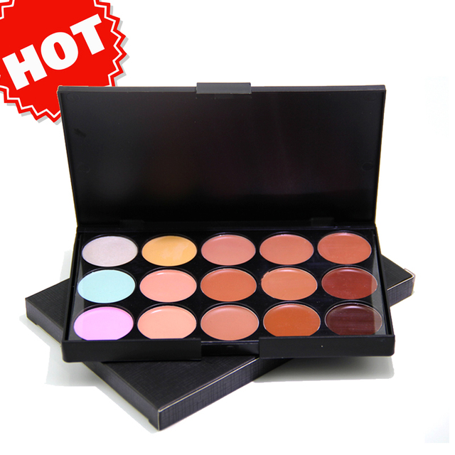 best oem makeup waterproof 15 color face concealer palette camouflage