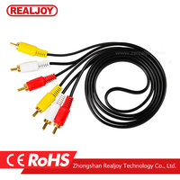 1.5m wholesale 3Rca to 3Rca sexi DVD HDTV AV AUX Audio Video Tv Cable