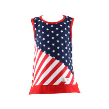 Stars and Flags Joint Fashion Design Small Girls Dress 4th of July Girls Dresses