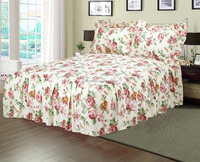 MICROFIBER QUILT TOP PRINT BEDSPREAD WITH 2 SHAMS WHOSALE CHINA