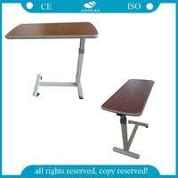 AG-OBT001 Height adjustable wooden hospital tray table