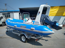 4.8m Fibreglass Inflatable Boat for water sports with CE certification