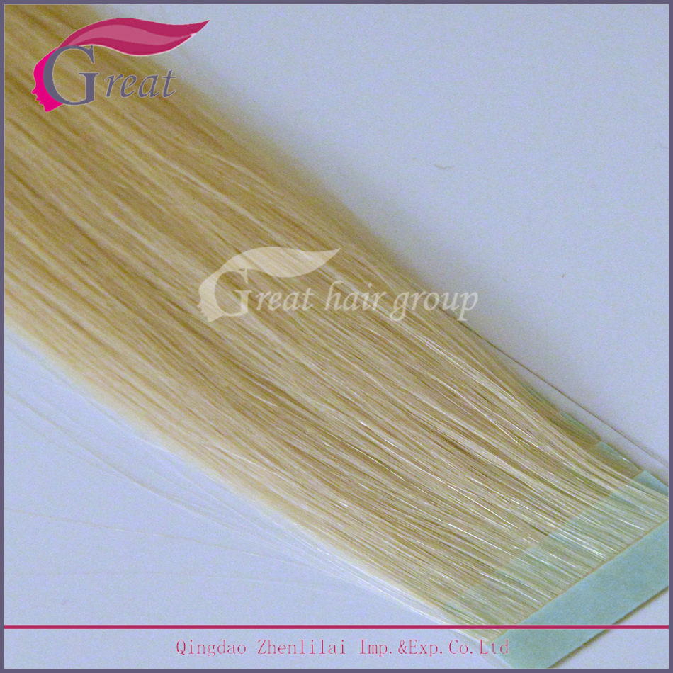 No Silicone No Acid Grade 8A Human Hair Extension With Tape