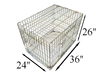 "36"" Folding Wire sloped dog cage"