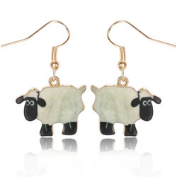 Yiwu Liaobao New Arrival Gold Plated Alloy Oppbag Pack Fashion Colors Sheep Earrings