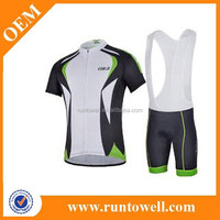 newest short sleeve cycling jersey and bib shorts