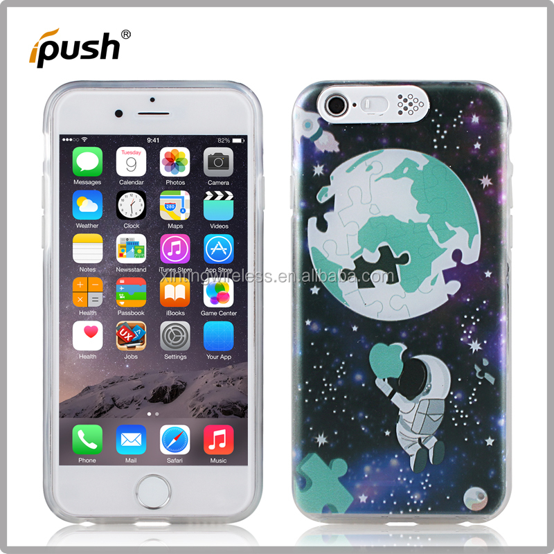 colored drawing + flashing cartoon PC+TPU mobile phone case for iphone5