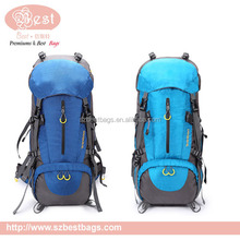 50L detachable wheels travel backpack with shoe compartment