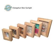 Handmade wood shadow box wood picture frame wood photo frame