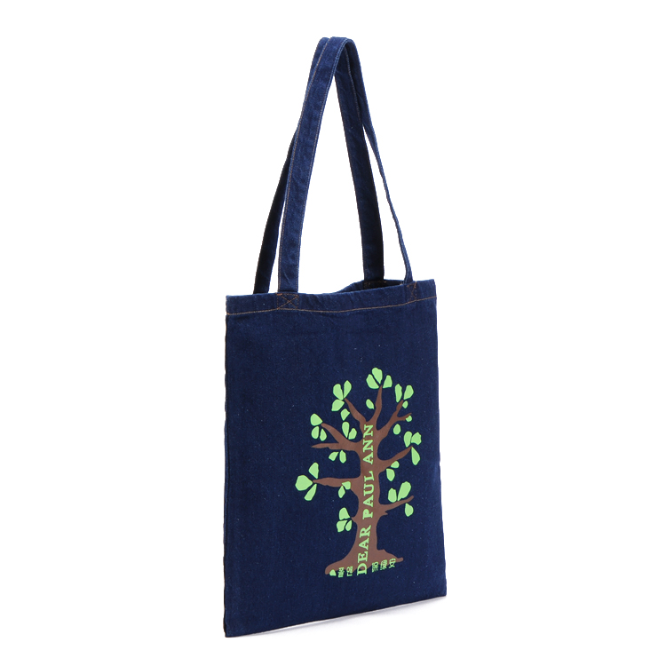 Fashion Design Custom LOGO printed Reusable Canvas shopping bag