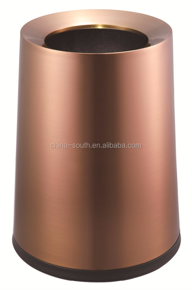 S/S Conical Double-Layer Dustbin, Office Paper Bin, Hotel Room Bin