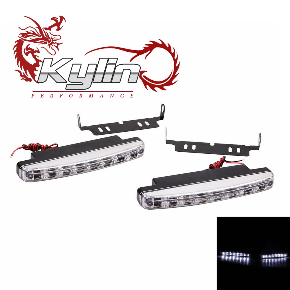 Kylin racing fog lamp Running Light 8 DRL Head Lamp Super White Car LED Running Lighting Daylight