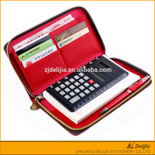Hot selling cheap pocket Calculator kraft sticky notebook with pen made in china