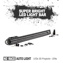 "Black Panel Design 50 inch auto parts accessories Waterproof 50"" Thin 288w Double Row Offroad LED Light Bar for Trucks ATV 4x4"