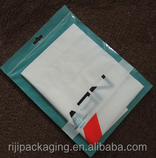 Factory wholesale large garments with clear plastic zipper bags with handle