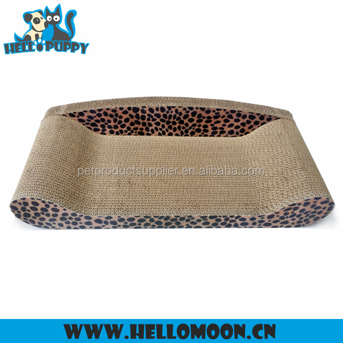 HELLOPUPPY 2016 Latest Design Eco-friendly Luxury Sofa Training Corrugated Cardboard Cat Scratchers With Catnip