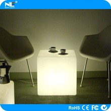 Decoration waterproof color changing led cube chair/led cube