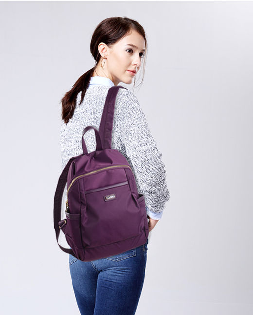 Hotsale fashion leather ladies handbag dual use women backpack