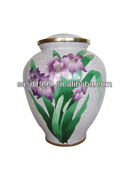 Wholesale Iris Cloisonne Cremation Urns/Jars for Ashes (Item No.P150)
