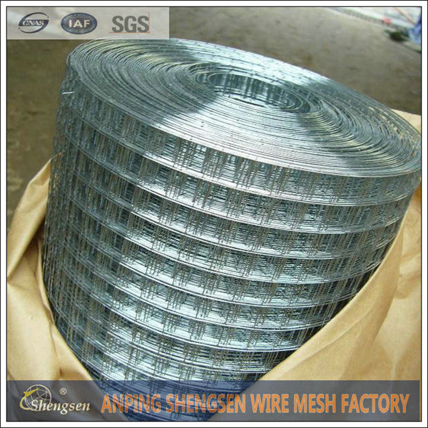Aperture: 1/2, 3/8, 5/8, 3/4, 1 1/4, 2, 3 and 4-3/4 inches PVC-coated or galvanized welded wire mesh