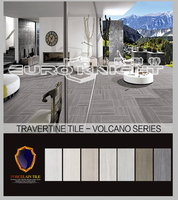 Italian imitation lava stone and volcanic rock stone travertine porcelain floor tile