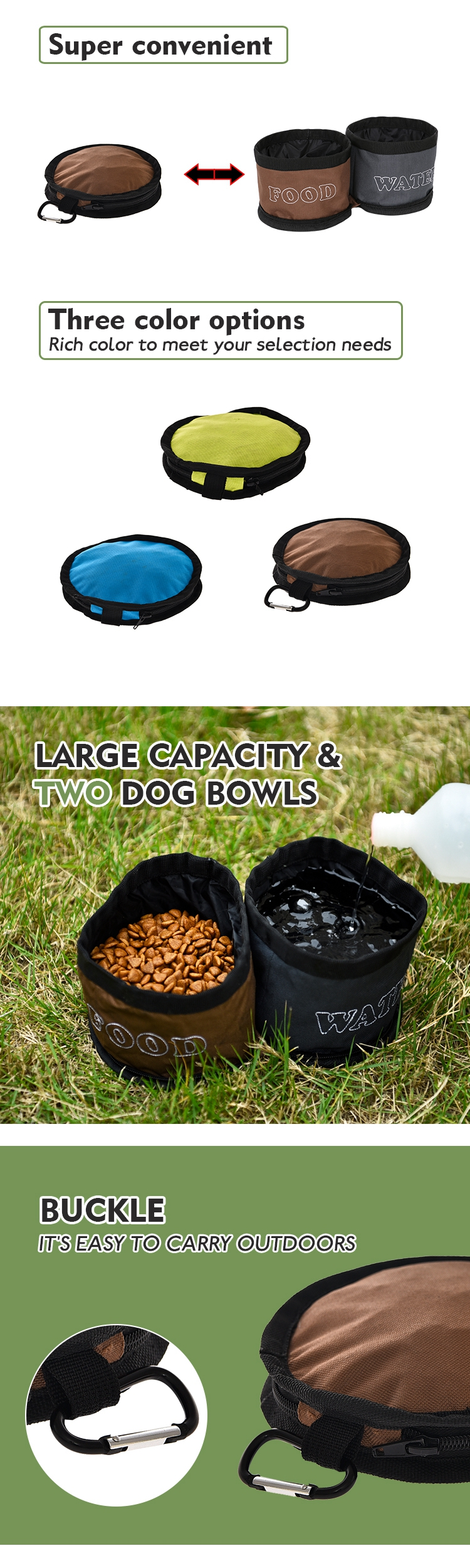 Tianyuan pet dog bowl foldable portable travel water bowl,travel food water bowl