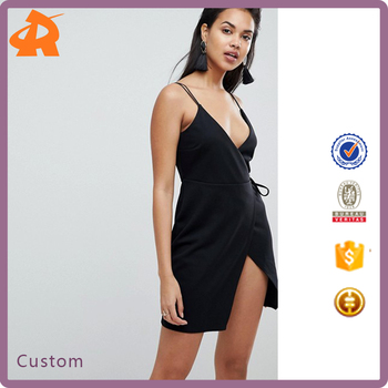 customize your own sleeveless hot sexy dress,plain black girls exclusive dress