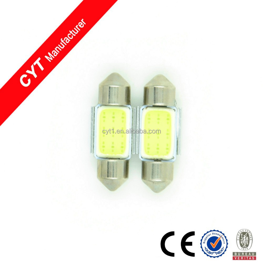 3W COB Led 31mm White Car Ceiling Dome Lights
