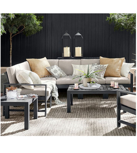 2018 outdoor garden powder coated aluminum sectional sofa sets