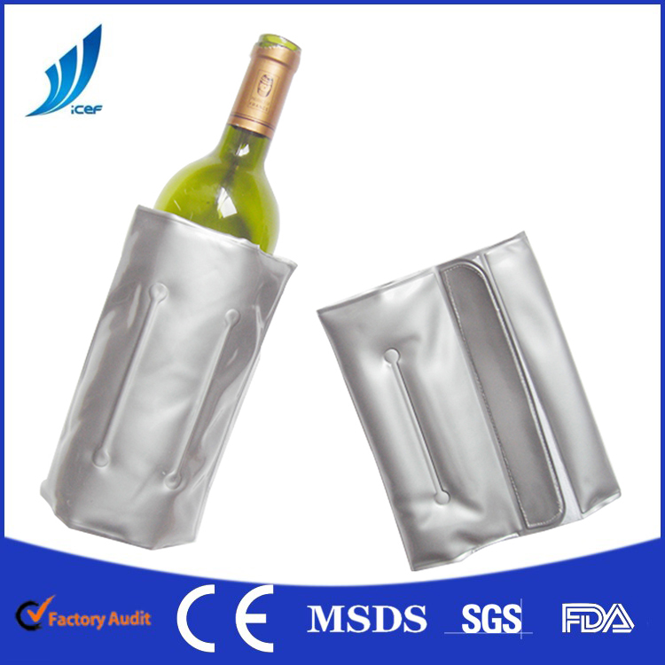 PVC BOTTLE COOLER FOR WINE AND BEER