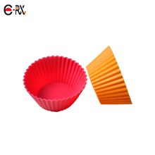 Wholesale cupcake paper bpa free silicone mold ordor free rainbow cup molds for cake making