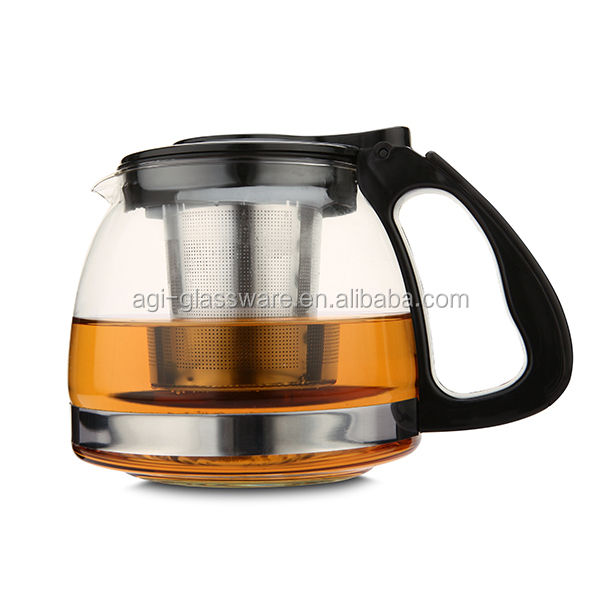 2017 Wholesale glass teapot set with infuser