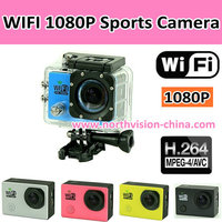 1920*1080 1080P Full HD Wifi Sports Action Camera with Wrist Remote Control