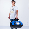 Blue PVC Tarpaulin Waterproof Sports Travel Duffel Bag