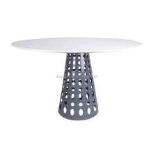 factory direct sell round square marble top iron base table