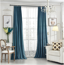 400gsm Darkening Thermal Insulated Blackout Flocked Velvet home curtains