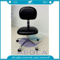 AG-NS005 CE ISO stainless steel adjustable medical laboratory stool