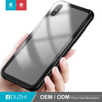 DUZHI factory wholesale tempered glass cell phone back case cover for apple iphone x, shockproof glass cases for iphone