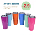 Tumbler Cups 30 OZ Rambler Cooler Vacuum Insulated Vehicle Large Capacity Coffee Beer Mug Cups
