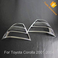 For Toyota Corolla 2003 chromed Tail light cover ABS chrome backlamp trim,corolla 2003 NZE