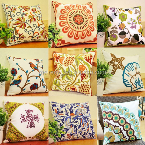Chian top sale decorative sofa/hotel/car throw pillow handmade brocade embroidery cushion cover