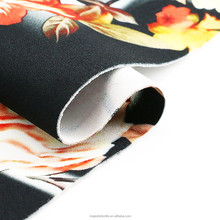 custom digital printed knitted padded 8% spandex fabric 92% polyester