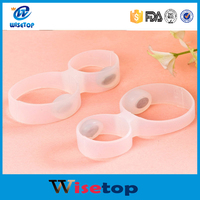 2016 New Coming Silicone Foot Massage Toe Rings Set Magnetic Therapy Slimming Product Fast Lose Weight Burn Fat Reduce Body Fats