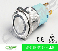 CMP 16mm Metal led waterproof Push Button Switch ( Ring lamp IP67)
