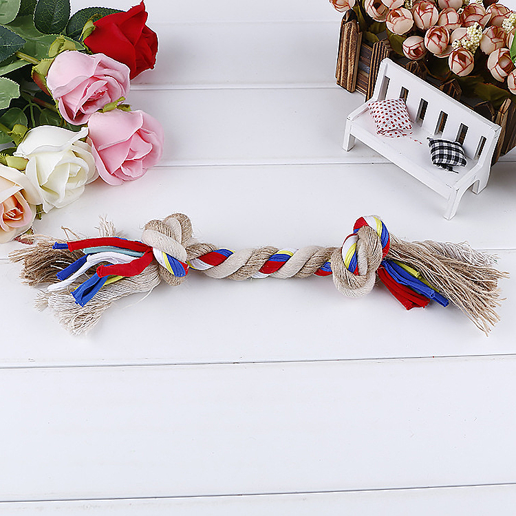 Fine Pet Products Toy High Quality Colorful Cotton Chew Rope Dog Toy Puppy for Dogs Sale