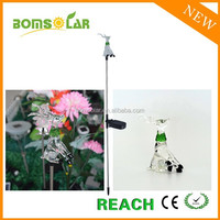 New design solar christmas deer solar arcrylic santa deer LED light