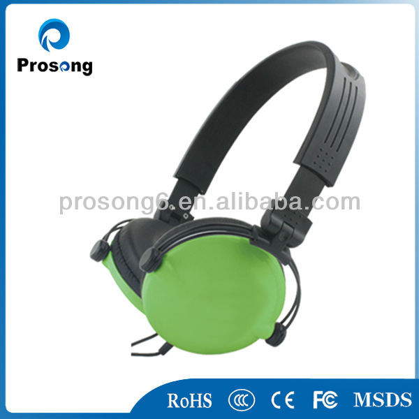 White single wire single side headset head phone