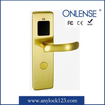 king style gold hotel lock