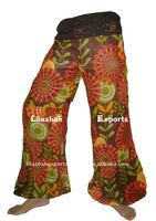 VP2835 Cotton Printed Trouser Jaipur Manufacturer Exporter Indu Hindu Ropa Wholesale sarouel Vetement Supplier India Pantalon
